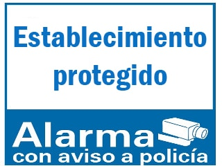 Señal exterior con aviso de alarma