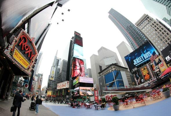 Imagen panorámica de vía pública