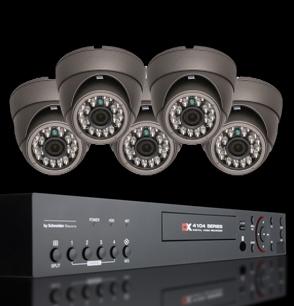 Vídeo grabador de seguridad NRV y cámaras de seguridad